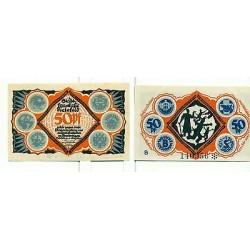 OLD GERMANY EMERGENCY PAPER MONEY - NOTGELD Bielefeld 1921 50 Pf B