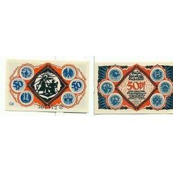 OLD GERMANY EMERGENCY PAPER MONEY - NOTGELD Bielefeld 1921 50 Pf CH