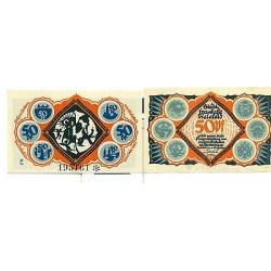 OLD GERMANY EMERGENCY PAPER MONEY - NOTGELD Bielefeld 1921 50 Pf E