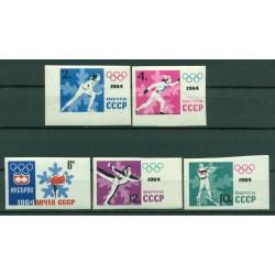 USSR 1964 - Y & T n. 2772/76 - 9th Winter Olympics (Michel n.2866/70 B)