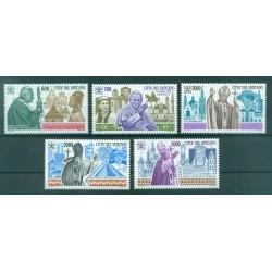"""Vatican 1989 - Mi. n. 988/992 - """"Viaggi del Papa"""" John Paul II"""