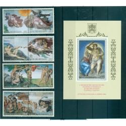 Vatican 1991 - Mi. n. 1107/1114 + 1115 Bl. 14 - Restauration des fresques de la Chapelle Sixtine