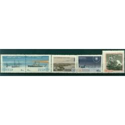 URSS 1965 - Y & T n. 3017/21 - Découverte de l'Antarctique
