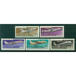 URSS 1965 - Y & T n. 118/22 poste aérienne - Avions et aéroports de Moscou