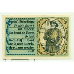 OLD GERMANY EMERGENCY PAPER MONEY - NOTGELD Blankenese 1921 50 Pf