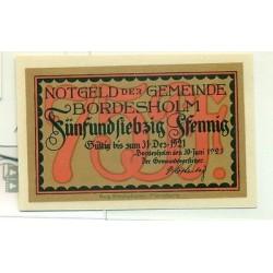 OLD GERMANY EMERGENCY PAPER MONEY - NOTGELD Bordesholm 1921 75 Pf Kirke