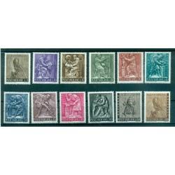 Vatican 1966 - Mi. n. 490/501 - Le Travail Humain