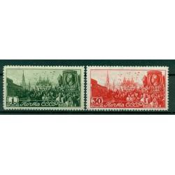 URSS 1947 - Y & T n. 1115/16  - Commémoration du 1er Mai