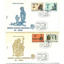 LOURDES - VATICAN 1981 Congresso Eucaristico Internazionale FDC