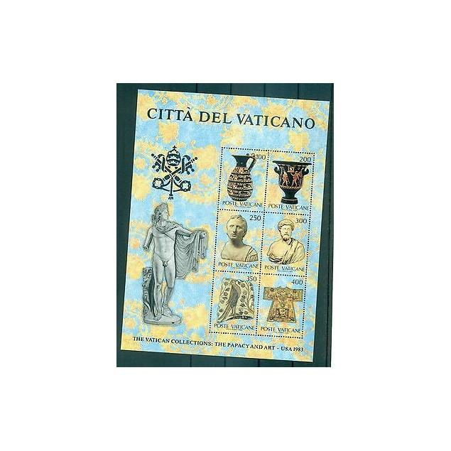 ART ANTIQUE - ANCIENT ART VATICAN CITY 1983 The Vatican Collection block