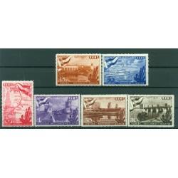 URSS 1947 - Y & T n. 1144/49 - Canal de la Volga