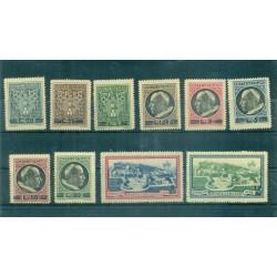 Vatican 1945 - Y & T. n. 120/127 + n. 7/8 exprés - Série courante