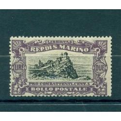 "SAN MARINO 1918 ""La Rocca"" Surtaxé Overcharged L.2+5c"