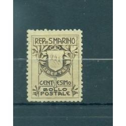 STEMMI - COATS SAN MARINO 1907 Mi 47 I 1 Cent