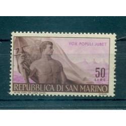 GIORNO DEL LAVORO - LABOUR DAY SAN MARINO 1948 Mi 400 50 Lire