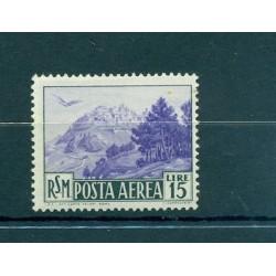 PAESAGGI - LANDSCAPES SAN MARINO 1950 Mi 446 15 Lire Air Mail