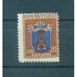 STEMMI - COATS SAN MARINO 1945/1946 Mi 332 20 Lire