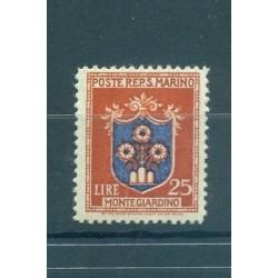 STEMMI - COATS SAN MARINO 1945/1946 Mi 333 25 Lire