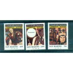 Saint-Marin 1990 - Mi. n. 1444/1446 - Sir Lawrence Olivier