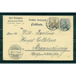 Allemagne - Germany 1923 - Michel n.53-54 a - Carte postale de