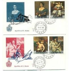 San Marino 1966 - Bolaffi n.725/28 - Tiziano FDC