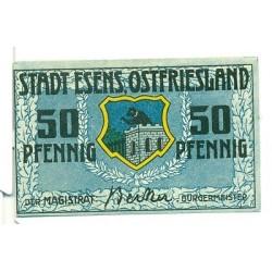OLD GERMANY EMERGENCY PAPER MONEY - NOTGELD Esens 1920 50 Pf