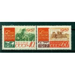 URSS 1957 - Y & T n. 1988/89 - Révolution d'Octobre