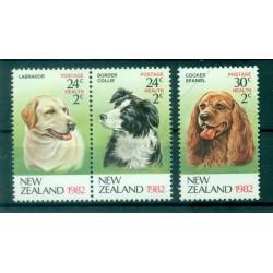 New Zealand 1982 - Mi. n. 849/851 - Dogs,  Health Care
