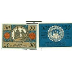 OLD GERMANY EMERGENCY PAPER MONEY - NOTGELD Ettenheim 1922 50 Pf 4 Recke dich