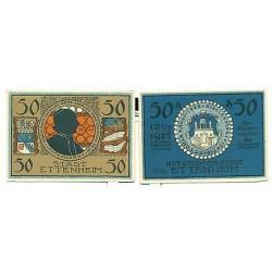 OLD GERMANY EMERGENCY PAPER MONEY - NOTGELD Ettenheim 1922 50 Pf 5 Von Rohan