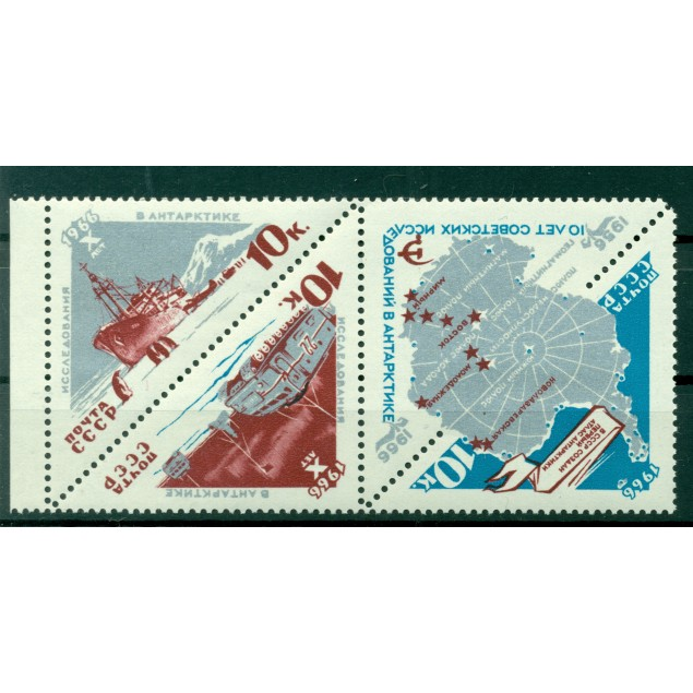 USSR 1966 - Y & T n. 3065/67 - Exploration of Antarctica