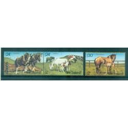 Nouvelle Zélande 1984 - Mi. n. 906/908 - Chevaux, Santé