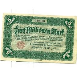OLD GERMANY EMERGENCY PAPER MONEY - NOTGELD Fallingbostel 1923 5.000.000 Mk