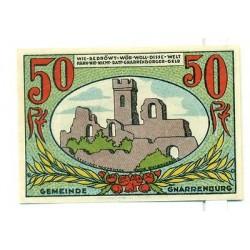 OLD GERMANY EMERGENCY PAPER MONEY - NOTGELD Gnarrenburg 1921 50 Pf
