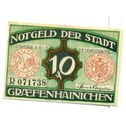 OLD GERMANY EMERGENCY PAPER MONEY - NOTGELD Grafenhainichen 1921 10 Pf R