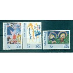Nouvelle Zélande 1986 - Mi. n. 968/970 - Dessins d'enfants, Santé