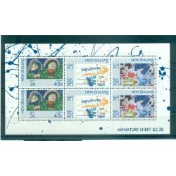 Nouvelle Zélande 1986 - Mi. n. 968/970 KB - Dessins d'enfants, Santé