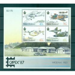 Nouvelle Zélande 1987 - Mi. n. Bl 10 I - Avions militaires CAPEX '87