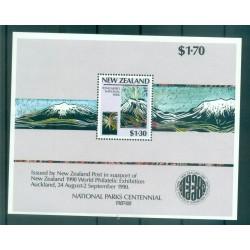 Nouvelle Zélande 1987 - Mi. n. 996/999  Bl 13 - Parcs nationaux