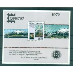 Nouvelle Zélande 1987 - Mi. n. 996/999  Bl 13 I - Parcs nationaux CAPEX '87