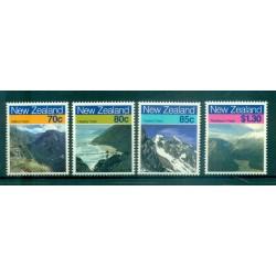 Nouvelle Zélande 1988 - Mi. n. 1028/1031 - Paysages: Montagnes