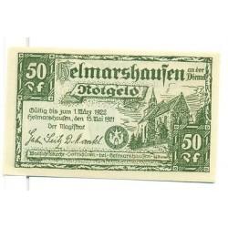 OLD GERMANY EMERGENCY PAPER MONEY - NOTGELD Helmarshausen 1921 50 Pf