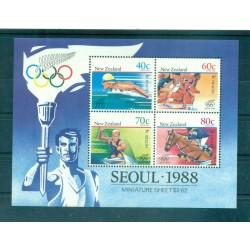 Nouvelle Zélande 1988 - Mi. n. Bl 16 - Jeux Olympiques Séoul