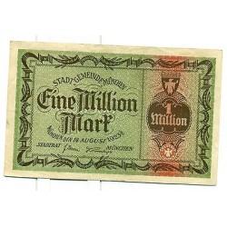 OLD GERMANY EMERGENCY PAPER MONEY - NOTGELD Munchen 1923 1.000.000 Mk