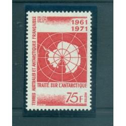 T.A.A.F. 1971 - Mi. n. 67 - Traité sur l'Anctarctique 10ème