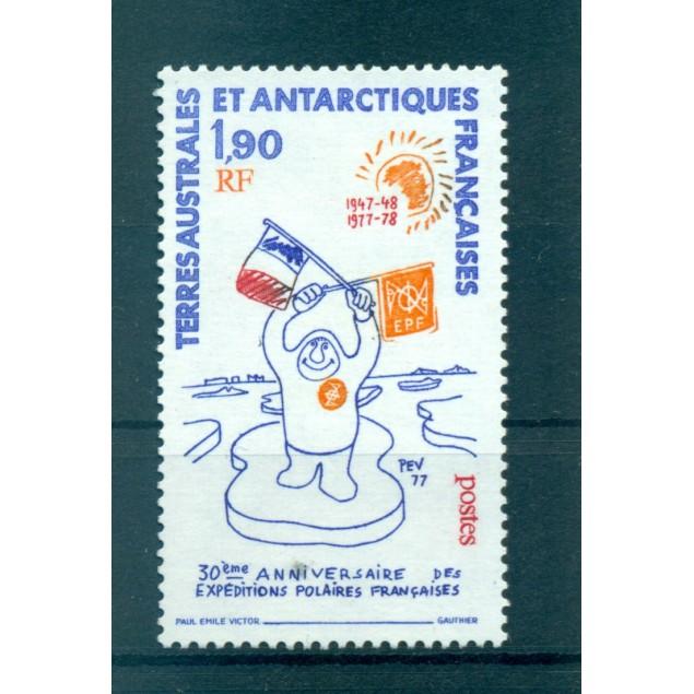 T.A.A.F. 1977 - Mi. n. 125 - Expéditions polaires 50ème