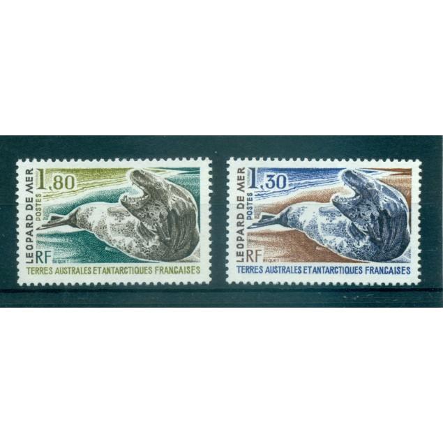 T.A.A.F. 1980 - Mi. n. 152/153 - Léopard de mer