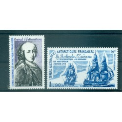 T.A.A.F. 1980 - Mi. n. 140/141 - Ammiraglio d'Entrecasteaux