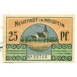 OLD GERMANY EMERGENCY PAPER MONEY - NOTGELD Neustadt i. Holstein 1921 25 Pf  Kir