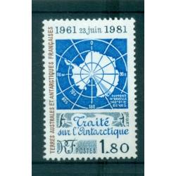 T.A.A.F. 1981 - Mi. n. 157 - Traité sur l'Anctarctique 20ème